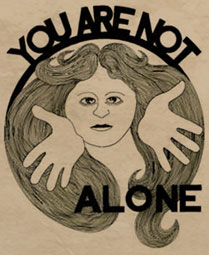Not alone graphic