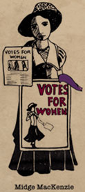 voting woman graphic