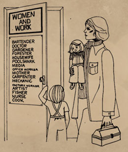 women and work graphic