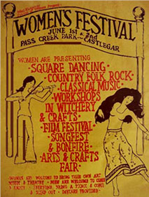womens festival graphic